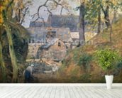 A Farm at Montfoucault, 1894 (oil on canvas) mural wallpaper in-room view