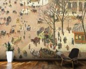 Place du Theatre Francais, 1898 (oil on canvas) wall mural kitchen preview