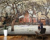 Chestnut Trees at Louveciennes, c.1871-2 (oil on canvas) wallpaper mural kitchen preview