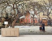 Chestnut Trees at Louveciennes, c.1871-2 (oil on canvas) wallpaper mural living room preview