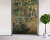 The Apple Pickers, 1886 (oil on canvas) wallpaper mural in-room view