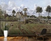 Pontoise Landscape, c.1872 (oil on canvas) mural wallpaper kitchen preview