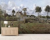 Pontoise Landscape, c.1872 (oil on canvas) mural wallpaper living room preview