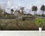 Pontoise Landscape, c.1872 (oil on canvas) mural wallpaper in-room view