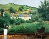 The Path in the Village, 1875 (oil on canvas) wall mural kitchen preview