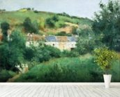The Path in the Village, 1875 (oil on canvas) wall mural in-room view