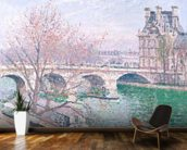 The Pont-Royal and the Pavillon de Flore, 1903 (oil on canvas wallpaper mural kitchen preview