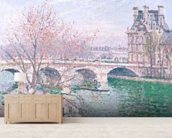 The Pont-Royal and the Pavillon de Flore, 1903 (oil on canvas wallpaper mural living room preview