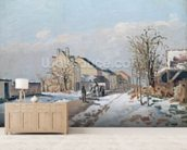 The Road from Gisors to Pontoise, Snow Effect, 1872 (oil on canvas) wall mural living room preview