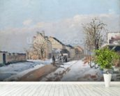 The Road from Gisors to Pontoise, Snow Effect, 1872 (oil on canvas) wall mural in-room view