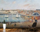 The Outer Harbour at Dieppe, 1902 (oil on canvas) wallpaper mural kitchen preview