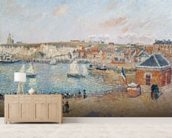 The Outer Harbour at Dieppe, 1902 (oil on canvas) wallpaper mural living room preview
