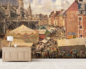 The Fair in Dieppe, Sunny Morning, 1901 (oil on canvas) wall mural living room preview