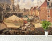 The Fair in Dieppe, Sunny Morning, 1901 (oil on canvas) wall mural in-room view