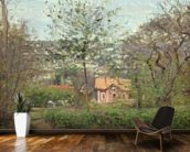 The Cottage, or the Pink House - Hamlet of the Flying Heart, 1870 (oil on canvas) wallpaper mural kitchen preview