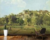 Pontoise, or The Gardens of the Hermitage, Pontoise, 1867 (oil on canvas) mural wallpaper kitchen preview