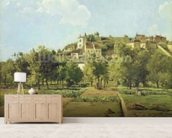 Pontoise, or The Gardens of the Hermitage, Pontoise, 1867 (oil on canvas) mural wallpaper living room preview