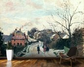 Fox hill, Upper Norwood, 1870 (oil on canvas) wallpaper mural kitchen preview
