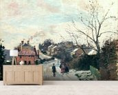 Fox hill, Upper Norwood, 1870 (oil on canvas) wallpaper mural living room preview