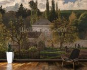 House in the Hermitage, Pontoise, 1873 (oil on canvas) wall mural kitchen preview