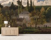 House in the Hermitage, Pontoise, 1873 (oil on canvas) wall mural living room preview