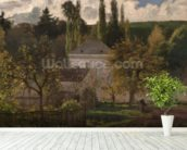 House in the Hermitage, Pontoise, 1873 (oil on canvas) wall mural in-room view