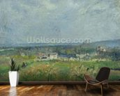 Landscape in Pontoise, 1877 (oil on canvas) wallpaper mural kitchen preview