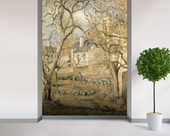 The Vegetable Garden, 1878 (oil on canvas) mural wallpaper room setting