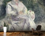 Portrait of Julie Velay, Wife of the Artist, c.1874 (oil on canvas) wall mural kitchen preview