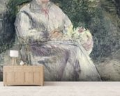 Portrait of Julie Velay, Wife of the Artist, c.1874 (oil on canvas) wall mural living room preview