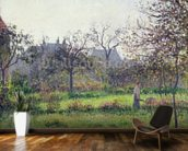 Morning Sun, Autumn, Eragny, 1897 (oil on canvas) wallpaper mural kitchen preview