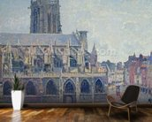 The Church of St Jacques in Dieppe, 1901 (oil on canvas) mural wallpaper kitchen preview