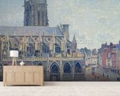 The Church of St Jacques in Dieppe, 1901 (oil on canvas) mural wallpaper living room preview