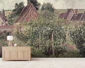 Landscape with Cottage Roofs, 1899 mural wallpaper living room preview