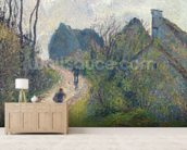 Road climbing to Osny, 1883 (oil on canvas) wall mural living room preview