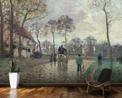 The Coach to Louveciennes, 1870 (oil on canvas) wallpaper mural kitchen preview
