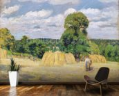 Harvesting at Montfoucault, 1876 (oil on canvas) wall mural kitchen preview