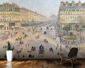 The Avenue de LOpera, Paris, Sunlight, Winter Morning, c.1880 (oil on canvas) wallpaper mural kitchen preview