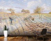 White Frost, 1873 (oil on canvas) mural wallpaper kitchen preview