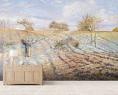 White Frost, 1873 (oil on canvas) mural wallpaper living room preview