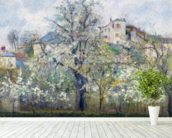 The Vegetable Garden with Trees in Blossom, Spring, Pontoise, 1877 (oil on canvas) wall mural in-room view