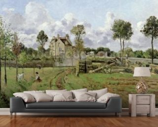 Landscape, Louveciennes 1872 Wallpaper Wall Murals