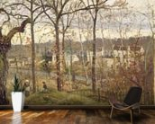 Winter Landscape at Louveciennes, c.1870 (oil on canvas) wall mural kitchen preview