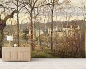 Winter Landscape at Louveciennes, c.1870 (oil on canvas) wall mural living room preview