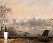 The Seine and the Louvre, 1903 (oil on canvas) wallpaper mural kitchen preview