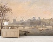 The Seine and the Louvre, 1903 (oil on canvas) wallpaper mural living room preview