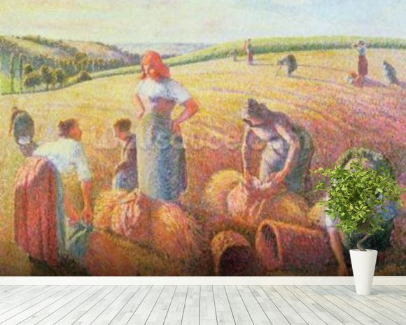 The Gleaners, 1889 (oil on canvas) mural wallpaper room setting