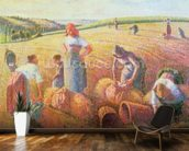 The Gleaners, 1889 (oil on canvas) mural wallpaper kitchen preview