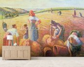 The Gleaners, 1889 (oil on canvas) mural wallpaper living room preview