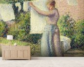 Woman Hanging up the Washing, 1887 (oil on canvas) wall mural living room preview